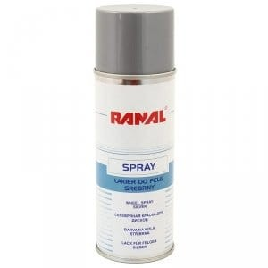 Lakier do felg srebrny spray RANAL 400ml